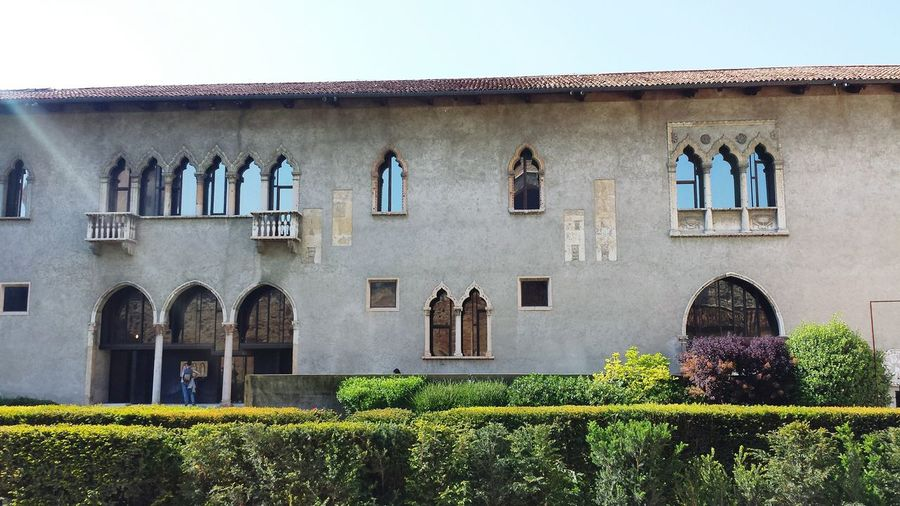 Exterior Of Castelvecchio Against Sky