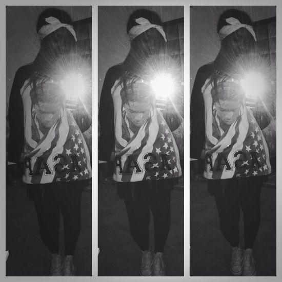 Ootd A$apRocky Fan Black & White :) Fashionkilla