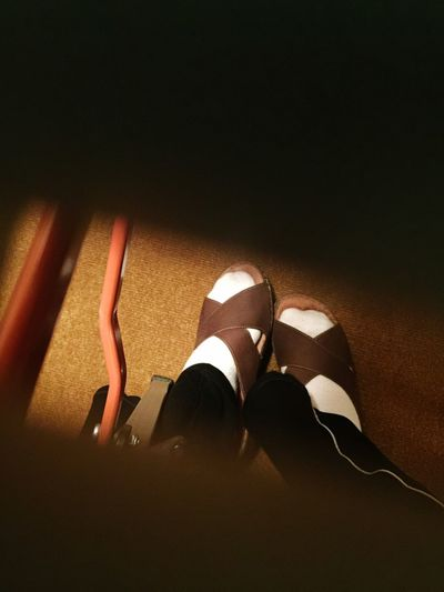 Close-up The Week On EyeEm Feet Low Section Shoe Human Body Part Night One Person Indoors  Sandal
