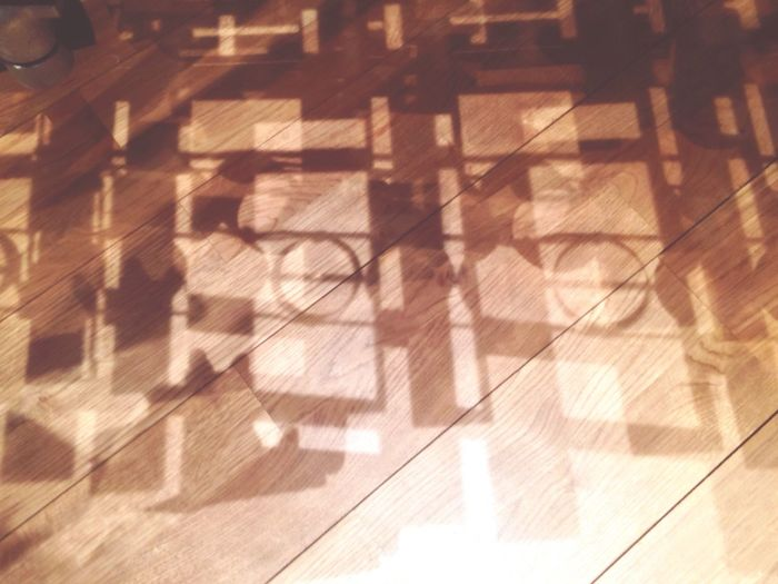 Geometric Shapes Performance Hall Townhall Woodenfloor
