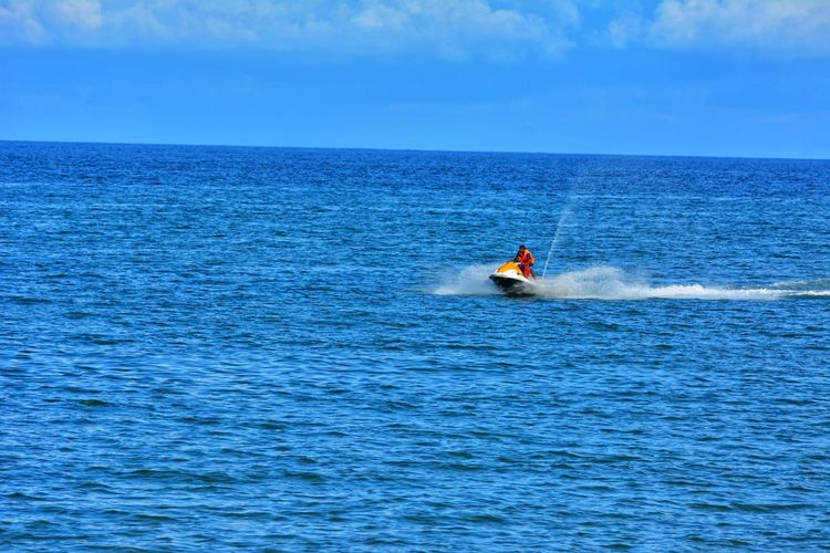 Sea water riding Travelling Photography Travling Indian Tourism Tourism Tourist Attraction  Tourist Destination Natural Beauty Indian Place Sceary Ocean Ocean View Ocean Photography Water Ride Nautical Vessel Sea Water Jet Boat Adventure Men Blue Sky Horizon Over Water Wake - Water Paddleboarding Speedboat Motorboat Moving Windsurfing Water Sport Life Jacket