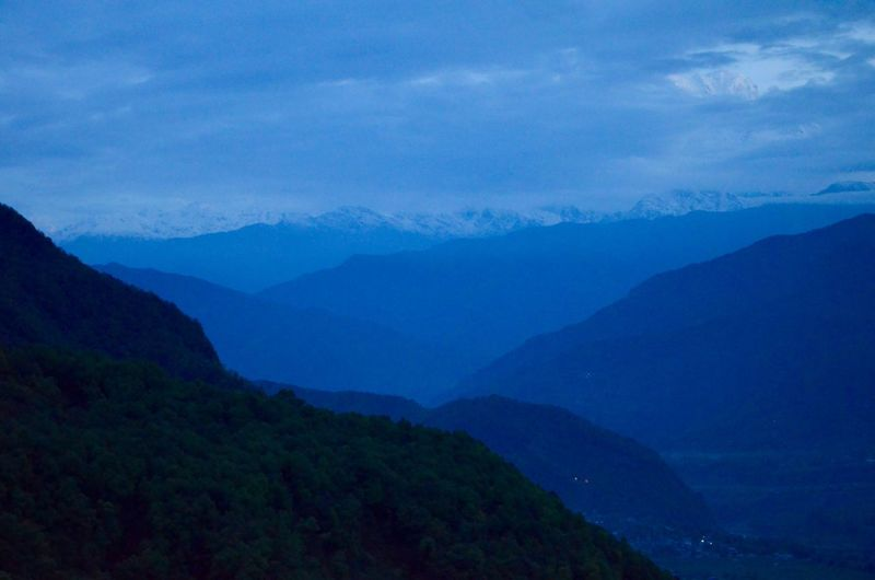 Anapurna Massiv Dawn Dawn Of A New Day Idyllic Mountain Mountain Peak Mountain Range No People Non-urban Scene Scenics - Nature Sky Tranquil Scene Tranquility