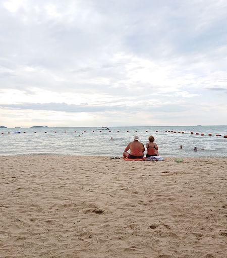 Forever Thailand Thaibeach Water Togetherness Beach Men Sand Sportsman Beach Holiday Sunbathing