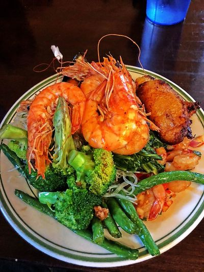 Good food Food Food And Drink Freshness Healthy Eating Indoors  Ready-to-eat Wellbeing Shrimp - Seafood Seafood Vegetable Plate