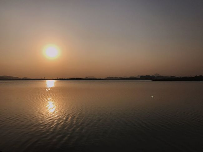 Reflection Water Nature Beauty In Nature Sunset Tranquility Sea Scenics Tranquil Scene Sky Sun No People Outdoors Day