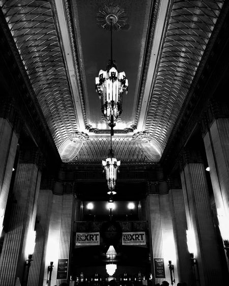 A night at the opera Illuminated Low Angle View Indoors  Ceiling Architecture Chicago Blackandwhite Concert The National