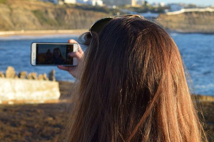 Selfie time! Sea Sunset Woman Portrait Beaitful Lady  Trending Photos EyeEm Selects Water Outdoors Nature EyeEm Ready   EyeEmNewHere