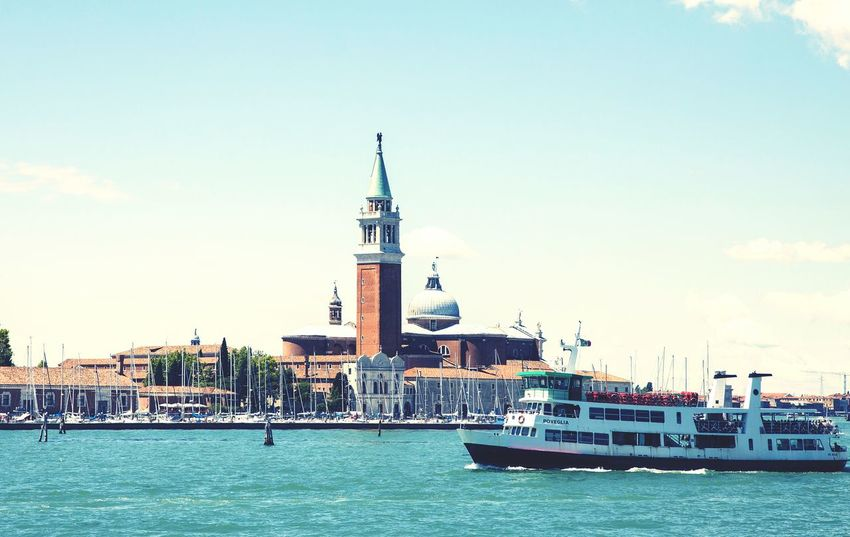 Venice Italy Europe Travel Famous Place Canal Lagoon Boat Architecture Historical Church Venice Vaporetto