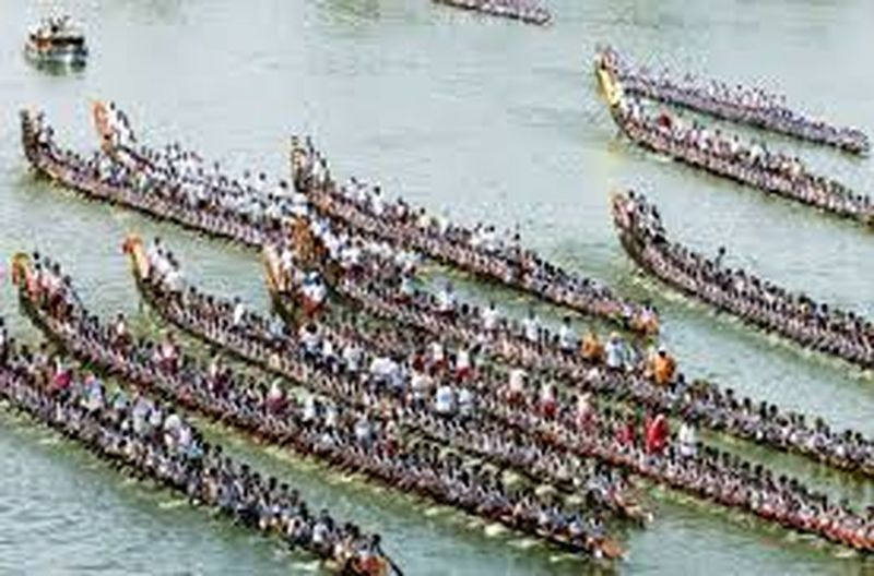 Kerala boat race with lot of boats & people. Outdoors