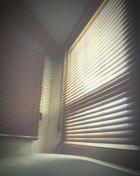 Vertical Blinds Bathroom Warm Light No People