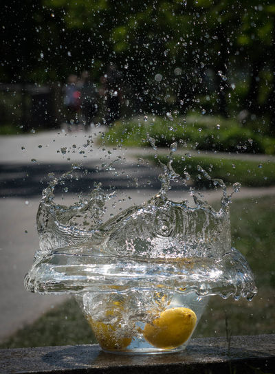 High-speed Photography PENTAX K-70 Splashing Water Citrus Fruit Close-up Day Drop Fruit Glass Moments Of Life Motion No People Outdoors Pentaxphotography Splashing Splashing Droplet Water