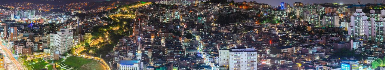 Korea Seoul City Night Landscape Cityscape Night View Nightscape Panorama with Sony A7R and Canon EF100-400 F4.5-5.6L IS II USM