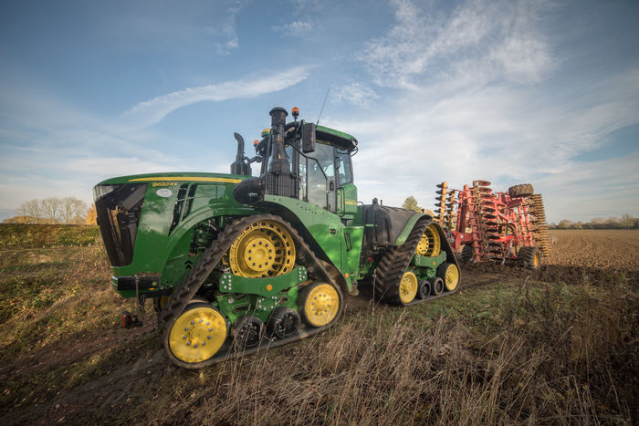 Agriculture Machinery Tractor Working Tractors Big Tractors Cultivation Day Farming Harvest Outdoors