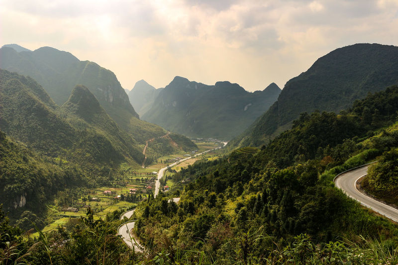 Vietnam Vietnamphotography Vietnam Mountains Đồng Văn Mountain Sky Scenics - Nature Environment Beauty In Nature Tree Plant Mountain Range Nature Landscape Cloud - Sky Tranquil Scene Tranquility No People Non-urban Scene Day Transportation Road Green Color Outdoors