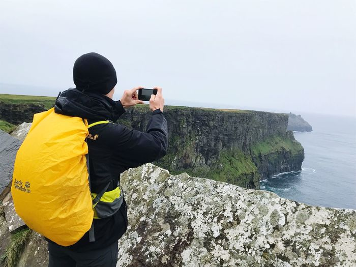 Cliffs Of Moher  Technology Photographing Photography Themes Activity Water Wireless Technology Communication Smart Phone Sea Beauty In Nature Outdoors