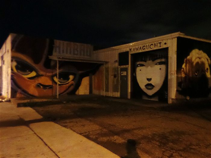 Denver Colorado  Street Art/graf Night Street Light Change Is Everywhere