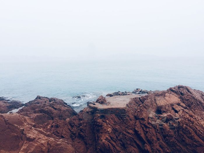 wang… Qingdao China EyeEm Selects Sea Water Beauty In Nature Beach Scenics - Nature Tranquility Land Fog Sky Rock Horizon Over Water No People
