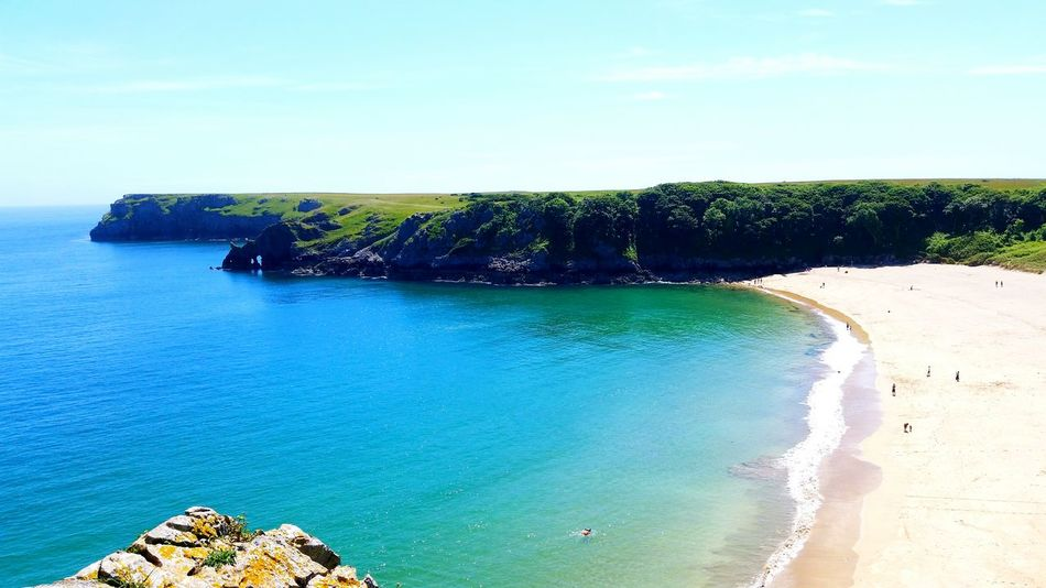 Protecting Where We Play Barafundle Bay Beach Sun, Sea And Sand Water Ocean Landscape Scenery