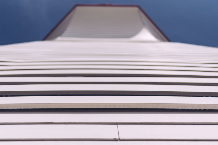 Lighthouse Architecture Building Exterior Built Structure Clear Sky Close-up Day Looking Up No People Outdoors Panels Rows Sky
