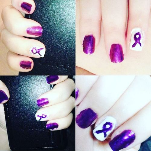 Throw🔙 to May 2014, during Lupusawareness month. / I went through and reset my twitter and saved all my important photos on my phone that way I didn't lose any. I loved these nails. 💜