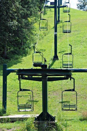 Ski Lift, Summer Minnesota Ski Lift Hill Summer ☀ Green Color