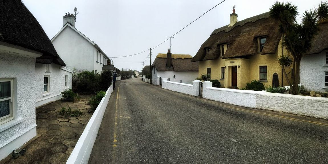 Ireland Quaint  Thatched Roof Thatched Cottage Village View Mobilephotography IPhoneography Peace And Quiet Panorama Snapseed
