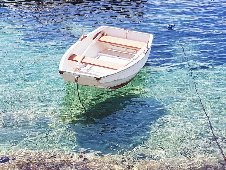 High Angle View Water Nautical Vessel Sea Day Transportation No People Outdoors Beach Nature Postcardsfromcroatia Postcardscollections Colors Of Life Horizon Over Water Croatian Sea Croatia_photography Galaxys7picture Croatiafullofmagic Blue Sunlight Dalmatiancoast Dalmatia Boat Croatian Landscape Sun The Great Outdoors - 2017 EyeEm Awards Live For The Story EyeEm Selects