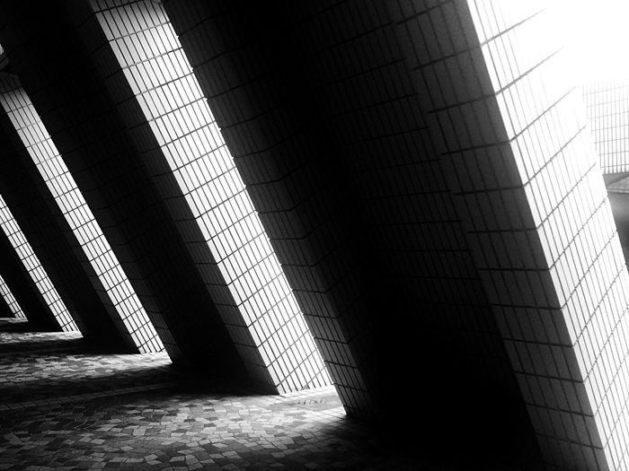 Light And Shadow Street Photographer-2016 Eyem Awards Eye4photography  IPhoneography Hong Kong Sun And Shadow Architecture Hong Kong Architecture Pattern, Texture, Shape And Form Black And White Monochrome