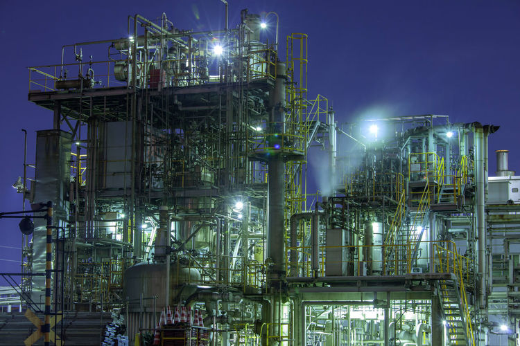 factory in japan Architecture Building Exterior Built Structure Chemical Plant Complexity Factory Fuel And Power Generation Illuminated Industrial Building  Industrial Equipment Industry Lighting Equipment Low Angle View Nature Night No People Oil Industry Outdoors Refinery Silver Colored Sky Smoke Stack
