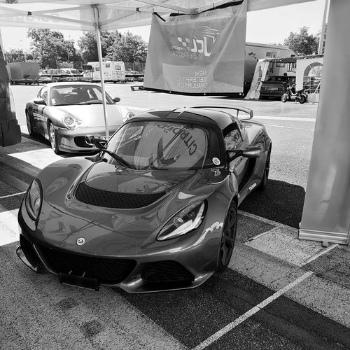 Lotu Exige V6 Blackandwhite Lotus Lotus Cars Exige V6  Alsace Racetrack Paddock