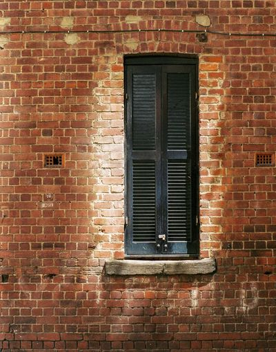 Film Photography Brick Wall Window Architecture No People Building Exterior Built Structure Day Outdoors