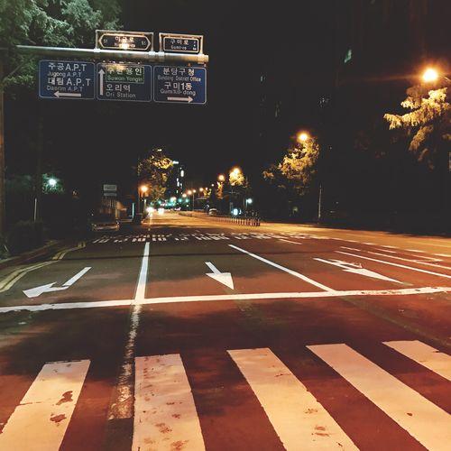 Night Illuminated No People Transportation Road Outdoors City