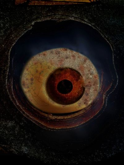 No People Close-up Black Background Astronomy Indoors  Galaxy Day Eyeball Abstract Photography Surrealism Abstract Art Strange Surreal Oddities Curiosities Atmosphere Abstract Rusty Iron Shadow Dark