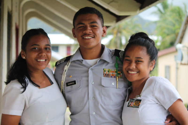 No bond stronger than a friendship <3 2018 American Samoa Beautiful Low Angle View New Years Photoshoot Polynesia Reunited  Student Trees Bestfriend Brown Focus Girl Guy Jrotc Loml ♥ Nofilter People Polynesian Portrait Smile Sun Sunnyday Young Adult