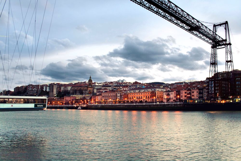 Puente Colgante Portugalete Guecho Getxo Getxo, Bizkaia Bizkaia Vizcaya Euskadi Euskalherria Euskal Herria Night Lights Night Night Photography River Bridge Transbordador SPAIN