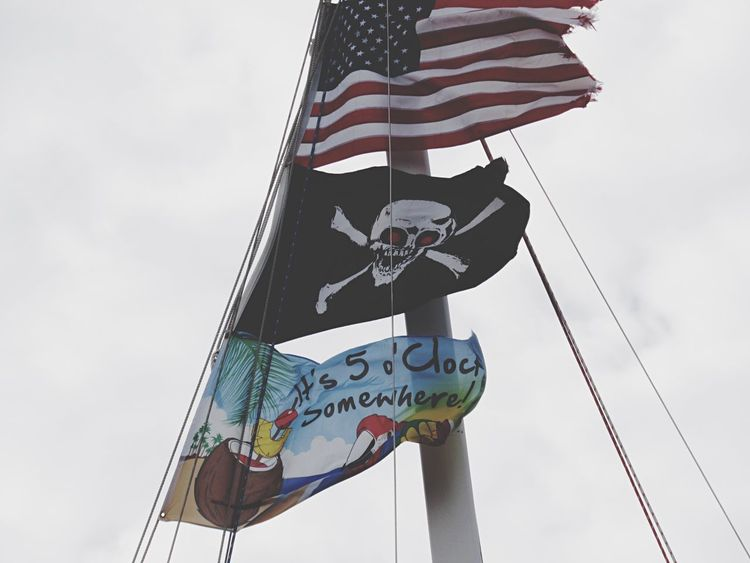 It Was 5'o Clock Somewhere Harbor Rockport Texas Flags In The Wind