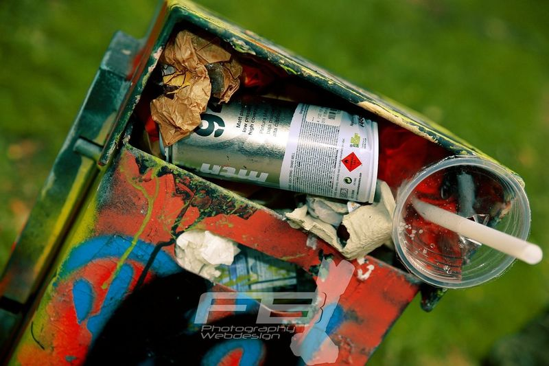 Photography Graffiti in garbage