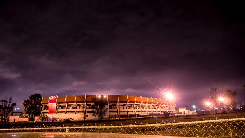 Estadio Corregidora de Querétaro Stadium Queretaro,Mexico EyeEm Best Shots Elperroartista Lumix GX1 Streetphotography Night Street Light Estadio Corregidora Estadio Everybodystreet