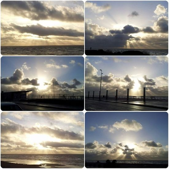 Who wore it best? Varying crepuscular rays from the shore of St. Leonards-on-Sea. Stleonards Cloudspotters