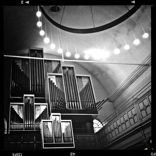 Bw_collection At Church Organ From Where I Stand When I sing in the choir! This is my view from my position!