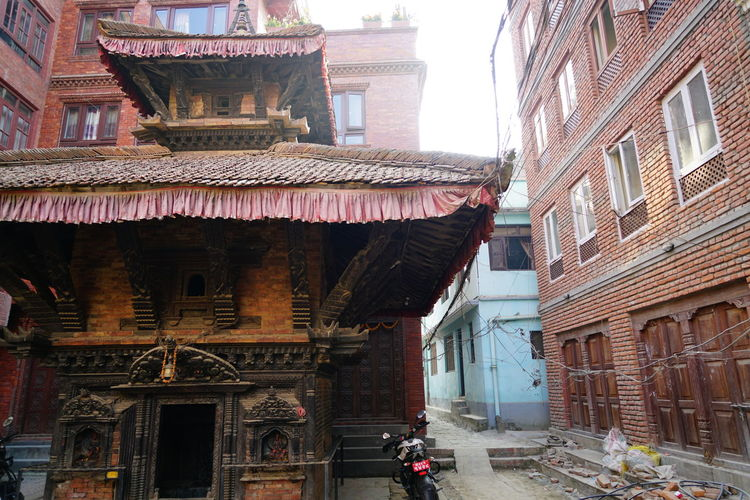 View of old building in city