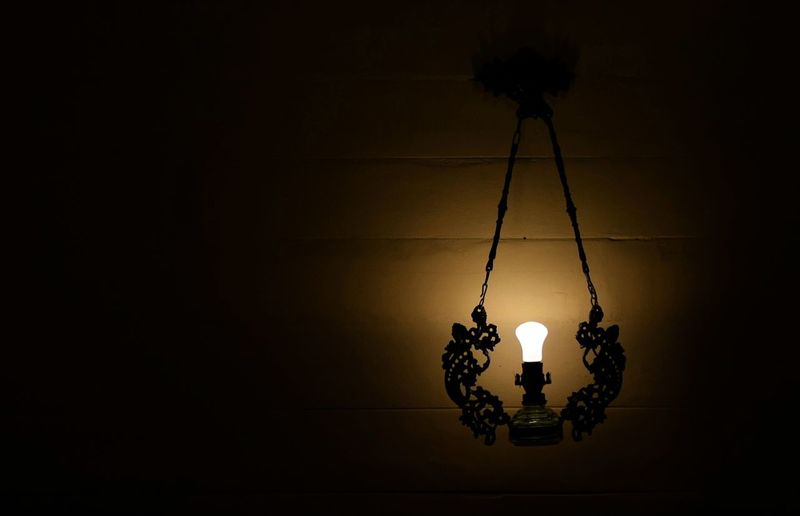 Illuminated Hanging Night Indoors  No People Lamp Light Light And Shadow Light In The Darkness Bulb