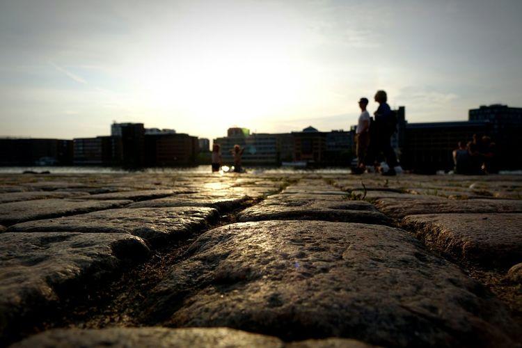 Sunset at Islands Brygge, Copenhagen. Faces Of Summer Walking Around Enjoying The Sun Street Photography Urban Landscape Light And Shadow EyeEm Gallery Summer Views Golden Hour Bokeh
