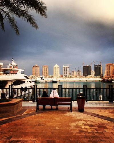 After rain Qatar Doha Afternoon After Rain Clouds And Sky People Watching Cityscapes City Travel Photography Traveling Bekkerfilms Sea Water Beautiful Love Qatarlife Seascape Taking Pictures Colors The Pearl, Doha IPhone IPhoneography View Sky Sea And Sky