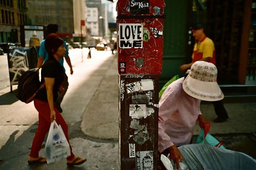 Love me Olympusxa Film Filmisnotdead Analog Analogue Photography Streetphotography Streetnyc NYC Street Pointandshoot Street Photography
