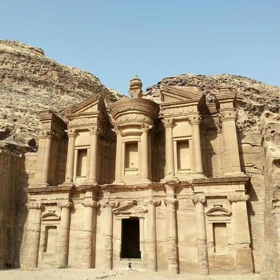 The Monastery at Petra, Jordan. A beautiful place to explore. VisitJordan Gojordan Jordan Mygalaxynote5 Petra Travel Photography Check This Out