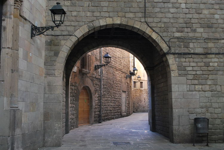 Arch Architecture Architecture Archway Barcelona Barcelona, Spain Building Exterior Built Structure Catalonia Catalunya Day Entrance No People Old Buildings Old Town Outdoors SPAIN Street Street Photography Streetphotography