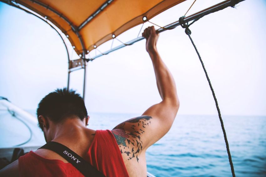 Take me back to the Island Life Boats Traveling Travel Photography Places EyeEmMalaysia Sea Tattoo People Boat Roadtrippin'