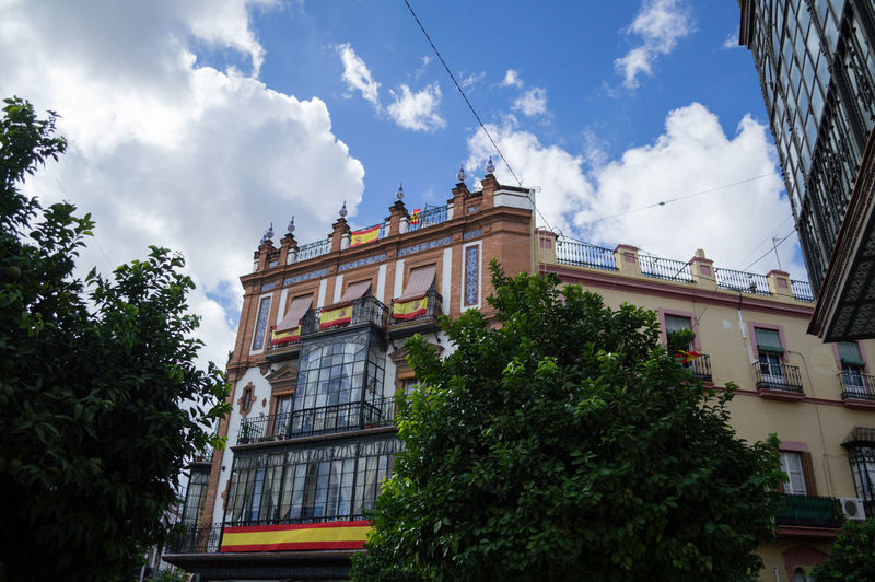Architecture Catalonia Is Not Spain SPAIN Seville Architecture Belief Building Building Exterior Built Structure Catalan Revolution City Cloud - Sky Day Growth Low Angle View Nature Outdoors Plant Religion Residential District Sky Travel Tree Window