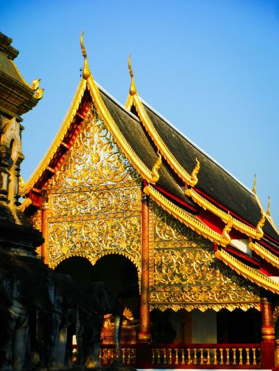 Gold Colored Place Of Worship Travel Destinations No People Architectural Feature Religion Architecture Chiang Mai Chiang Mai | Thailand Chiang Mai Thailand Thailand Temple Temple Architecture Temple - Building Temple Spirituality Temples Templephotography Temple Thailand Wat Detail Intricate Intricate Details Asian Temple Wat Chiang Man Chiangman